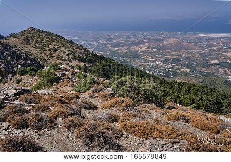 Rocky hillside on the island of Kos in Greece