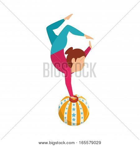 Circus juggler show icon vector illustration design