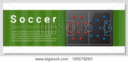 Football field graphic background , vector , illustration