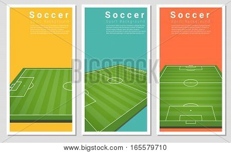 Set of Football field graphic background , vector , illustration