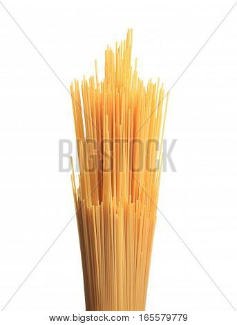 Bunch Of Spaghetti Pasta Isolated On White Background