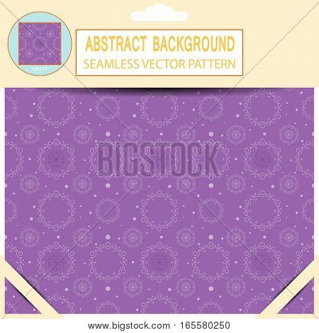 Vector seamless abstract dark lilac pattern in the package with pattern unit and shadow.
