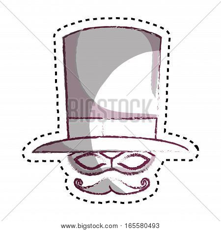 Wizard hat isolated icon vector illustration design