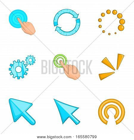 Cursor icons set. Cartoon illustration of 9 cursor vector icons for web