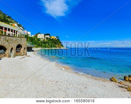 The beautiful Capri island - the sea and beach
