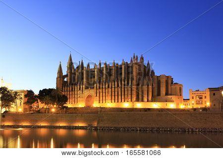 A maravilhosa catedral de Palma de Maiorca.