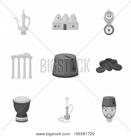 Turkey set icons in monochrome style. Big collection of Turkey vector symbol stock