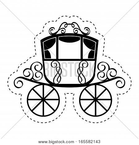 wedding carriage isolated icon vector illustration design