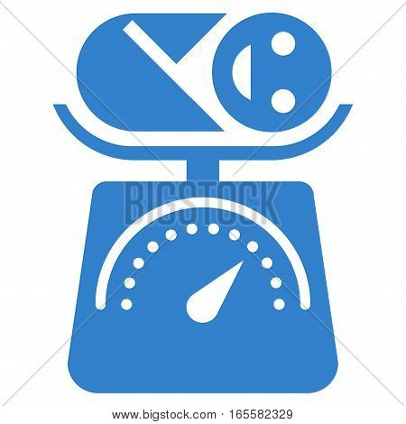 Baby Weight vector icon. Flat cobalt symbol. Pictogram is isolated on a white background. Designed for web and software interfaces.
