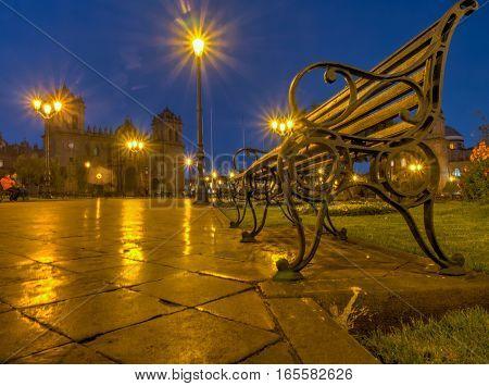 Bench At Plaza De Armas