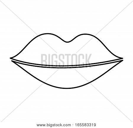 lips female drawing icon vector illustration design