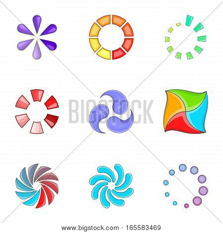 Progress loading bar icons set. Cartoon illustration of 9 progress loading bar vector icons for web