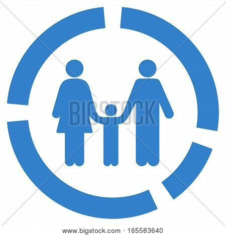 Family Diagram vector icon. Flat cobalt symbol. Pictogram is isolated on a white background. Designed for web and software interfaces.