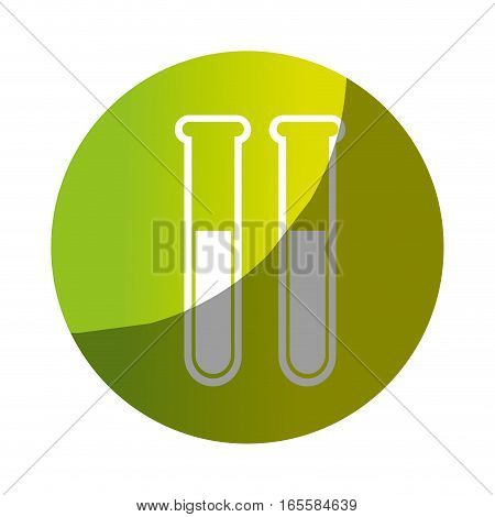 tube test glass isolated icon vector illustration design