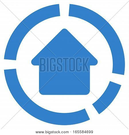 House Diagram vector icon. Flat cobalt symbol. Pictogram is isolated on a white background. Designed for web and software interfaces.