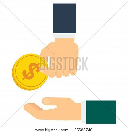 Hand Donate Coin