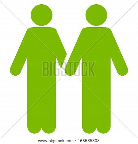 Adult Friends vector icon. Flat eco green symbol. Pictogram is isolated on a white background. Designed for web and software interfaces.