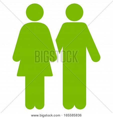 Adult Pair vector icon. Flat eco green symbol. Pictogram is isolated on a white background. Designed for web and software interfaces.