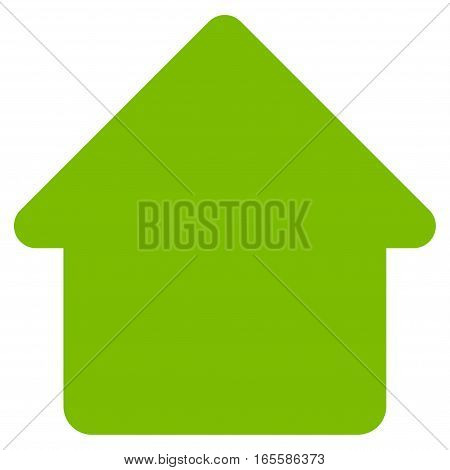 Cabin vector icon. Flat eco green symbol. Pictogram is isolated on a white background. Designed for web and software interfaces.