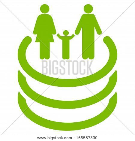 Family Portal vector icon. Flat eco green symbol. Pictogram is isolated on a white background. Designed for web and software interfaces.