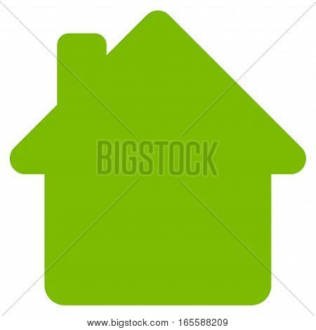 House vector icon. Flat eco green symbol. Pictogram is isolated on a white background. Designed for web and software interfaces.