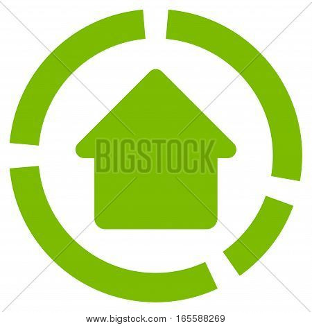 House Diagram vector icon. Flat eco green symbol. Pictogram is isolated on a white background. Designed for web and software interfaces.