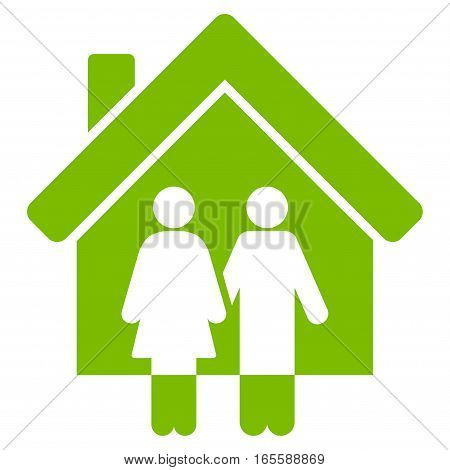 Property vector icon. Flat eco green symbol. Pictogram is isolated on a white background. Designed for web and software interfaces.