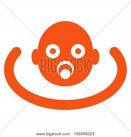 Baby Environment vector icon. Flat orange symbol. Pictogram is isolated on a white background. Designed for web and software interfaces.