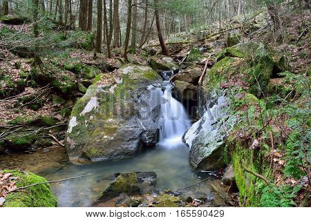 Waterfall In The Allegheny Mountains Of Pennsylvania