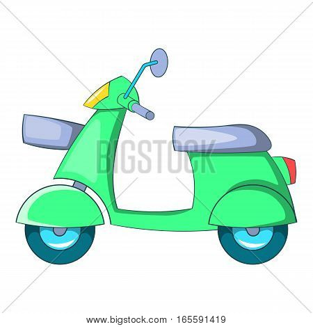 Scooter motorbike icon. Cartoon illustration of scooter motorbike vector icon for web design