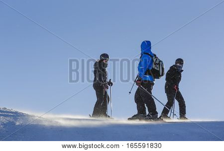 Skiers On Ski Slope