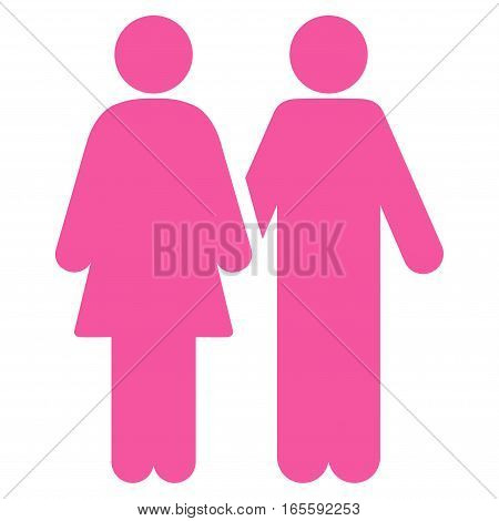 Adult Pair vector icon. Flat pink symbol. Pictogram is isolated on a white background. Designed for web and software interfaces.