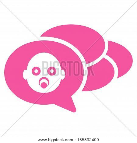Baby Dreams vector icon. Flat pink symbol. Pictogram is isolated on a white background. Designed for web and software interfaces.