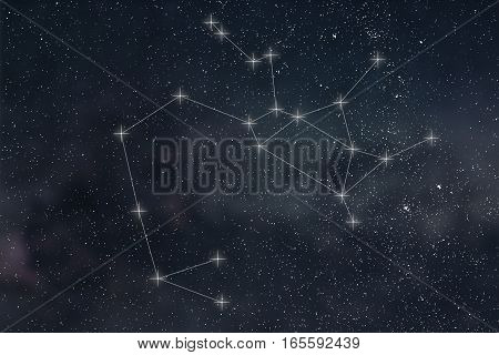 Sagittarius Constellation. Zodiac Sign Sagittarius Constellation Lines