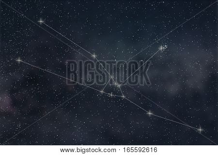 Taurus Constellation. Zodiac Sign Taurus Constellation Lines