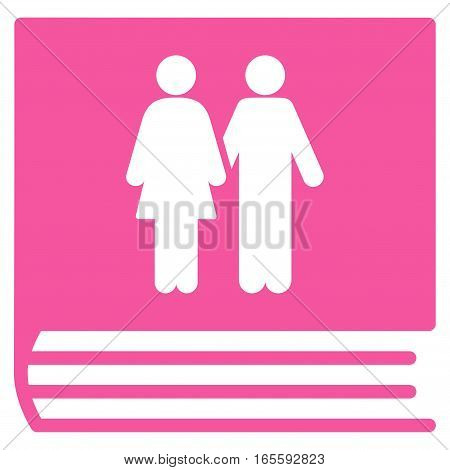 Family Album vector icon. Flat pink symbol. Pictogram is isolated on a white background. Designed for web and software interfaces.