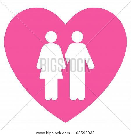 Family Love Heart vector icon. Flat pink symbol. Pictogram is isolated on a white background. Designed for web and software interfaces.