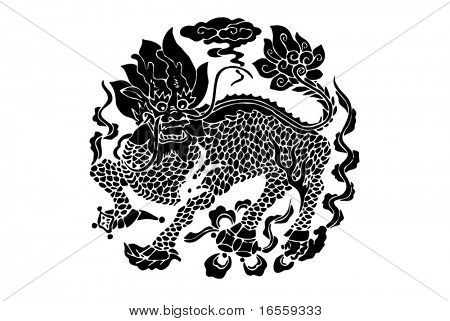 Vector of Ancient Chinese kylin Pattern