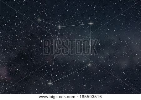 Libra Constellation. Zodiac Sign Libra constellation lines