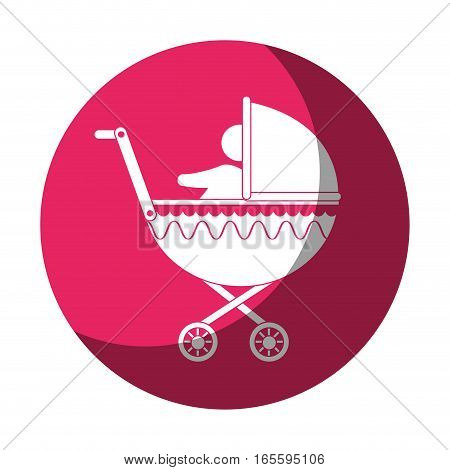 cart baby silhouette icon vector illustration design