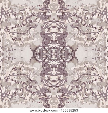 Seamless nature pattern. Stone, snake skin, band view mosaic motley texture. Ornamental collage. Gray, brown, beige colored background. Vector