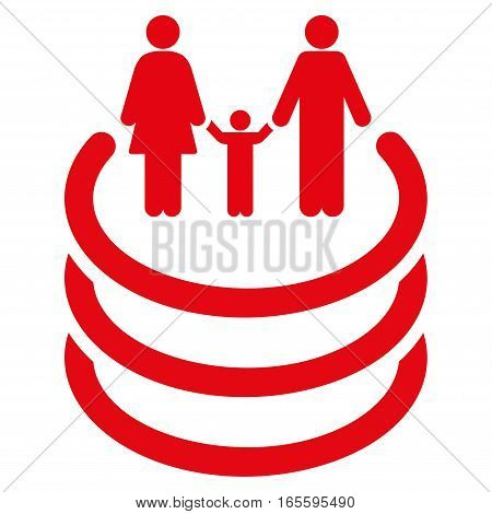 Family Portal vector icon. Flat red symbol. Pictogram is isolated on a white background. Designed for web and software interfaces.