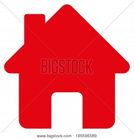Home vector icon. Flat red symbol. Pictogram is isolated on a white background. Designed for web and software interfaces.