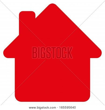 House vector icon. Flat red symbol. Pictogram is isolated on a white background. Designed for web and software interfaces.