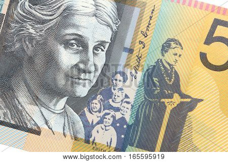 50 Australian Dollars with portrait of Edith Cowan social worker and feminist