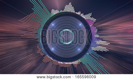 Audio visual. Digital audio equalizer. Music background