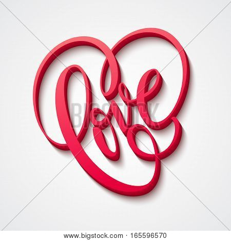Valentines Day Lettering Love. Vector illustration EPS10