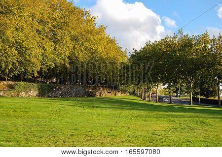 Parque da Avda de Burgo das Nacions in Santiago de Compostela, Galicia, Spain