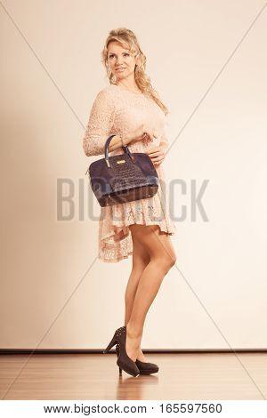 Fashionable Woman With Nice Dress.