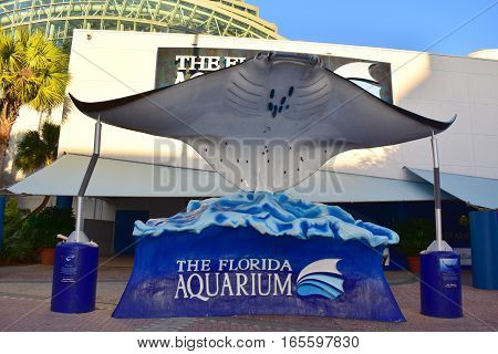 Tampa, Florida - Usa - January 07, 2016: Florida Aquarium Tampa